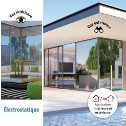 Film solaire électrostatique repositionnable Argent foncé - rejet de chaleur 79%