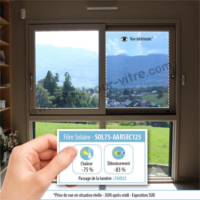 Film solaire sécurité anti effraction 125 microns double vitrage - rejet total énergie solaire 75%