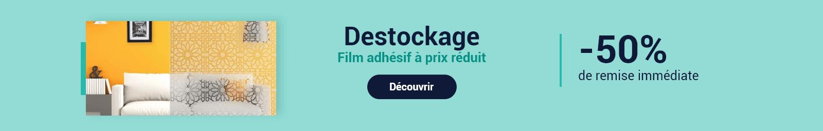 Destockage film pour vitre