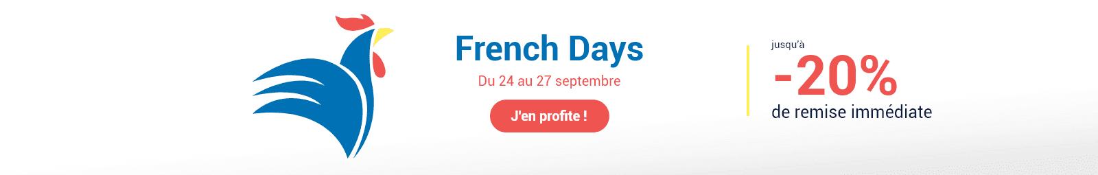 French Days - 20% de réduction immédiate
